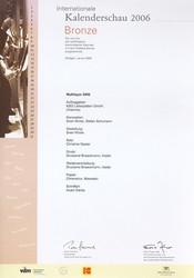 2006-Kalenderschau - d:Bronze bei Stuttgarter Kalenderwettbewerb 2006: KSG-Kalender 'Aufbau einer Leiterplatte'. - sd: