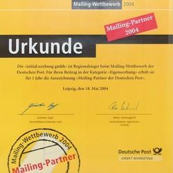 2004-dp-partner-min.jpg - d:2004: Auszeichung als Mailingpartner der Deutschen Post - sd: