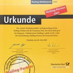 2005-1-dp-partner-min.jpg - d:2005: Auszeichung als Mailingpartner der Deutschen Post - sd: